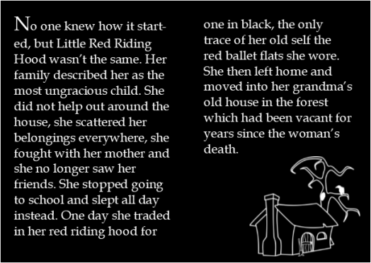 little black riding hood first two pages